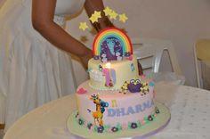 Ahooga look at this beautiful #GiggleBellies #birthday cake Roshni Venkatesh had made for her daughter Dharma's 1st Birthday! Wow!! We love it! #GBbirthday