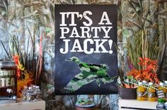 Best Birthday Party Idea for a Boy, lol (or man, throwing this party for my husband this year!!) Duck Dynasty Boy's Birthday Party Ideas - Spaceships and Laser Beams