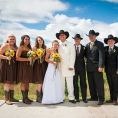 Country Camo Wedding Party