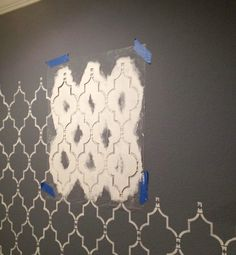 This site has illustrated, step-by-step wall stenciling instructions - Plus the link to the Etsy site that offers stencils.