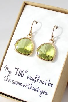 the perfect bridesmaid earrings.