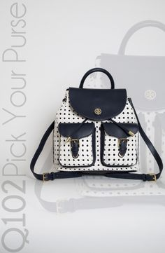 Tory Burch - Robinson Basket-Weave Backpack.  Go to wkrq.com to find out how to play Q102's Pick Your Purse!