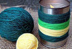 Yarn Bombing Candles