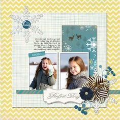 Perfect Day First Snow Digital Kit for a Digital Photo Book or Scrapbook ---- Detailed Instructions on the Creative Memories Project Center: http://projectcenter.creativememories.com/digital/2013/01/perfect-day-first-snow-digital-scrapbook-layout-project-idea.html