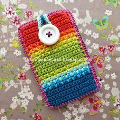 Karin on the hook: Rainbow Handy Case
