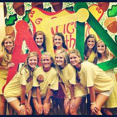 Alpha Gam sisters on Bid Day