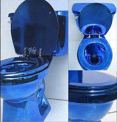 Wild Color Chromed toilets from Jemal Wright Bath Designs: For Those Who Like A Bold or Blingy Bathroom - if it's hip, it's here