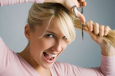 How to cut your own hair--sometimes I just want to trim up my bangs or get rid of some split ends....