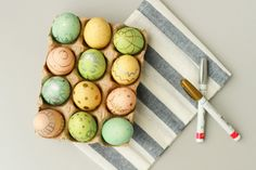 Eggs decorated with pens - 15 Easter Crafts, Activities, and Treats for Kids I Easter Ideas for Kids - ParentMap