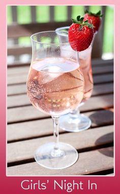 Moscato, Vanilla Vodka with Strawberry soda