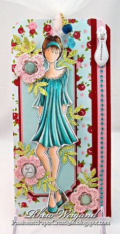 Store blog: Embellished Mixed Media Doll Tag by Rhea