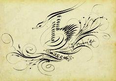 calligraphy circa 1907