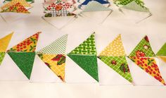 The Cottage Home: Eat Your Fruits and Veggies Half-Square Triangle Tutorial and Giveaway