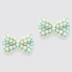 Mintylicious Bow Earrings