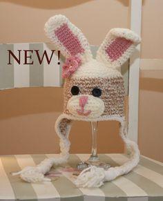 Sock Bunny Earflap Hat