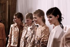 Backstage at Mulberry RTW Spring 2013