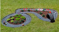 How to build a cool DIY outdoor race track for the kids' toy cars