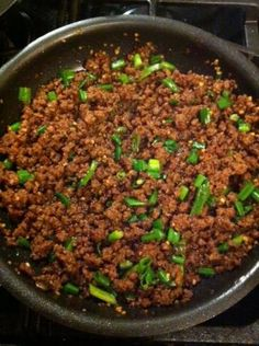Korean Beef (Using Ground Beef)...DELICIOUS!!! :) Always looking for something different to do with my ground beef.  would be great as lettuce wrap filler.