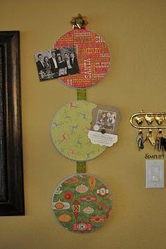 DIY magnetic Christmas card holder