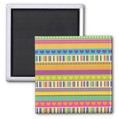 Colorful Rainbow Cute Patterns and Shapes Gifts Refrigerator Magnets