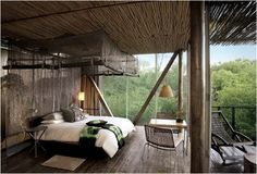 Master bedroom with floor to ceiling  windows.AWESOME!