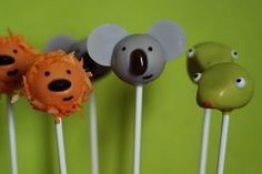 Jungle Animal Cake Pops