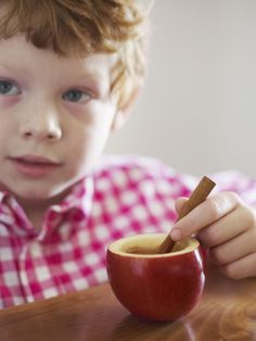 What's your family's favorite #fall treat? Try some sweet Cupples, hollowed-out apples filled with warm cinnamon cider.