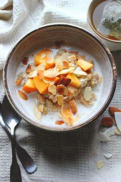 Quinoa, Persimmon, & Almond Porridge - Vegan