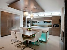 kitchen island with timber