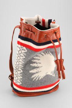 Pendleton Blanket Vegan-Leather Backpack #urbanoutfitters