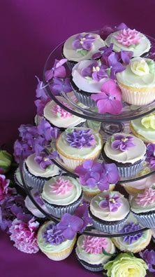 Spring cupcake tower!