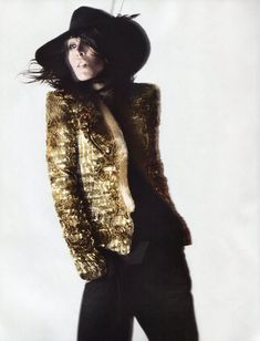 Raquel Zimmermann by David Sims for <em>Vogue Paris</em>