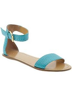 turquoise sandals.