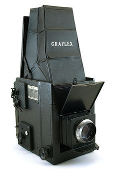 Graflex 2-1/4 x 3-1/4 RB Series B SLR Sheet Film Camera,(circa 1949), 127mm f4.5 Kodak Ektar Barrel Lens.