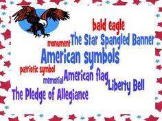 This study guide and corresponding quiz (with answer key) covers important vocabulary about American Symbols for third grade social studies. A wordle with these vocabulary words to post in the classroom is also included.     The following words are included: American flag, patriotic symbol, bald eagle, Liberty Bell, monument, memorial, The Star Spangled Banner, and The Pledge of Allegiance $