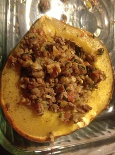 Paleo Dinner Tonight: Stuffed Acorn Squash