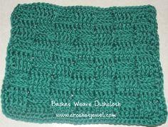 Crochet Basket Weave Dishcloth, http://crochetjewel.com/?p=10468