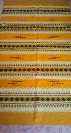 Handwoven wool rug by byCaterine on Etsy