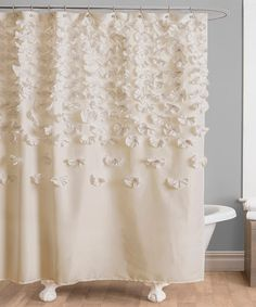 Ivory Lucia Shower Curtain by Lush Décor on #zulily today!