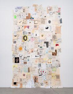 Scrap papered wall display