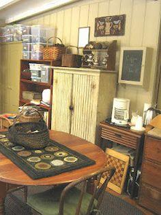 A primitive studio.