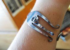 DIY Fork bracelet.