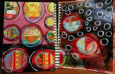 Elizabeth Bunsen    roundies - m/m journal spread and panel    http://elizabethbunsen.typepad.com/be_dream_play/2012/03/roundie-play.html