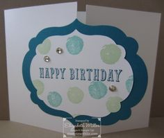 Birthday card from the Peace, Love & Cupcakes stamp set from Stampin Up. #stampinup