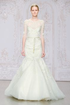 Monique Lhuillier Fall 2015 Bridal Collection | 100 Layer Cake #weddingdress