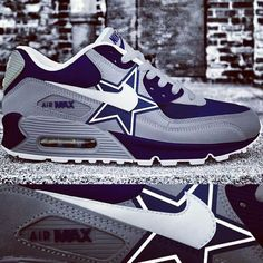 Dallas Cowboys custom Nike Air Max {by Vetti Clothing, vetticlothing@gmail.com for custom orders}