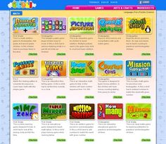 kindergarten Amazing site for free resources, including websites and printables.