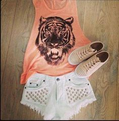 outfit #sneakers  #vest #shorts