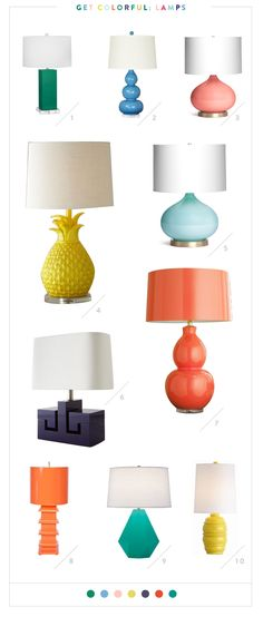 The 10 best colorful lamps.