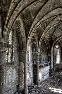 old church in Germany Ruins, dilapidated, decay, abandoned